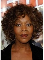 Corey Short Wavy Curly Wigs For African American Women 10 Inches