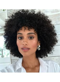 Big Afro Curly Synthetic Hair African American Wig10 Inches