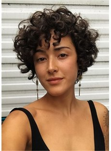 Short Kinky Curly Synthetic Hair Women WIgs 10 Inches