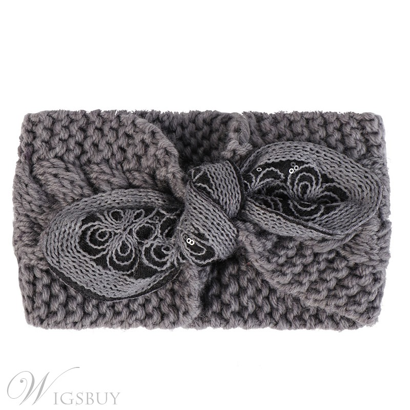 Vintage Style Bowknot Type Knitted Turban