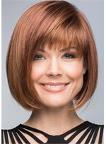 Bob Hairstyles Synthetic Hair With Bangs Natural Straight Wig 14 Inches