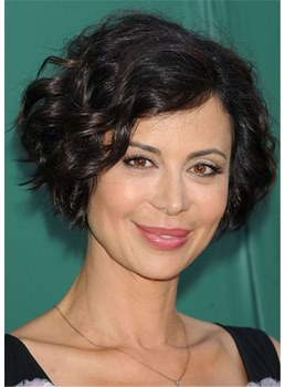 Short Wavy Hair Style Human Hair Women Wig 12 Inches