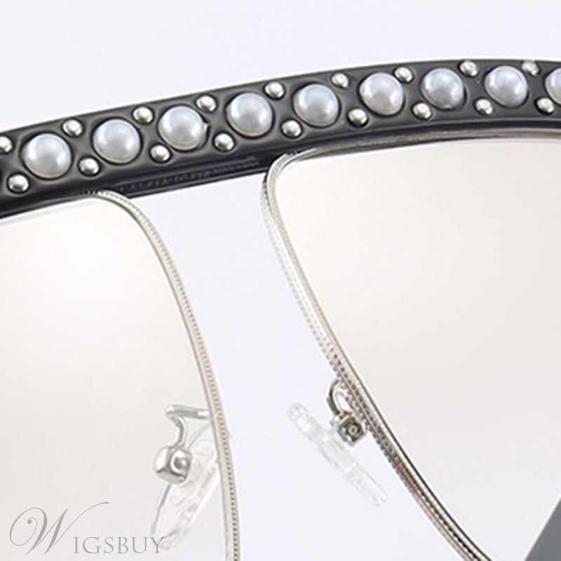 Fashion Style Audlt Women/Ladies Poly Carbonate Lens Metal Frame Wrap Shape Sunglasses