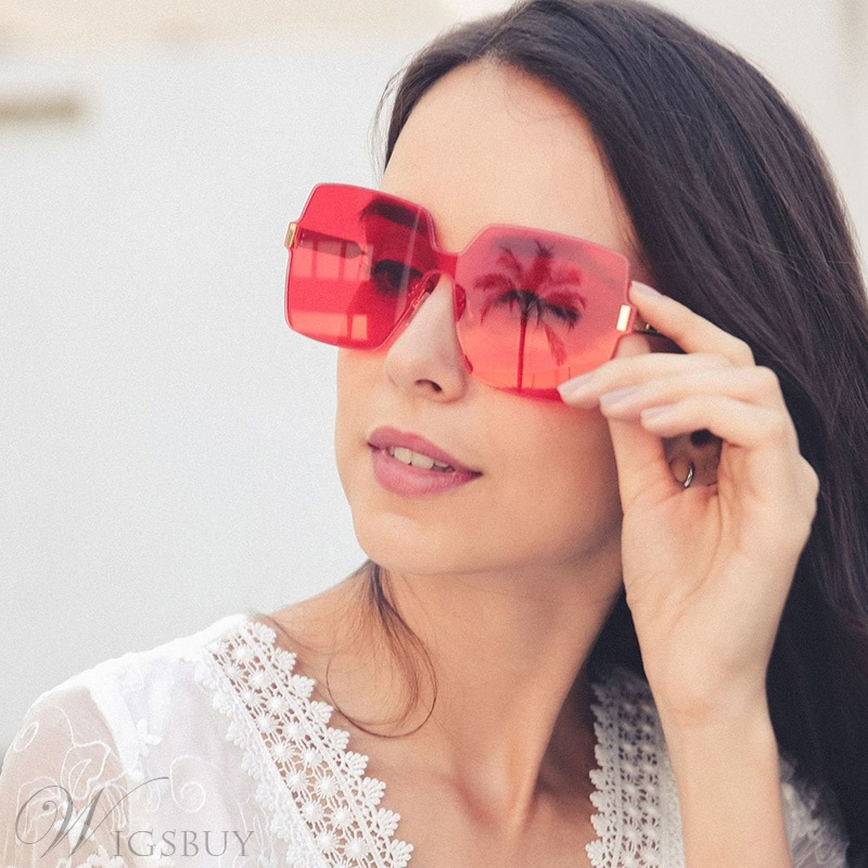 Fashion Style Women/Ladies Audlt Metal Frame Poly Carbonate Lens Wrap Shape Sunglasses