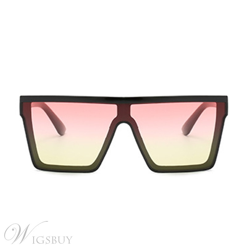 Fashion Women/Men's Unisex Vintage Style Adult Poly Carbonate Frame Resin Lens Wrap Shape Sunglasses
