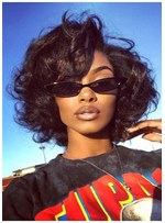 Stunning Bob Hairstyles Synthetic Hair Curly Wigs For African American Women 14 Inches