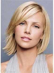 Short Silky Neat Polished Straight Synthetic Hair Wig 10Inches