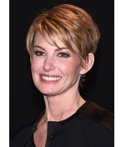 Women's Short Pixie Cut Hairstyles Natural Straight Human Hair Wigs With Bangs Lace Front Wigs 6Inch
