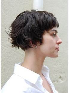 Short Bob Hairstyle Natural Straight Synthetic Hair Wig 10 Inches