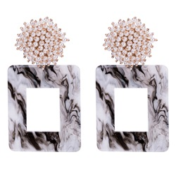Anniversary/Wedding/Party Women/Ladies Vintage Style Pearl Inlaid Technic Acrylic Drop Earrings