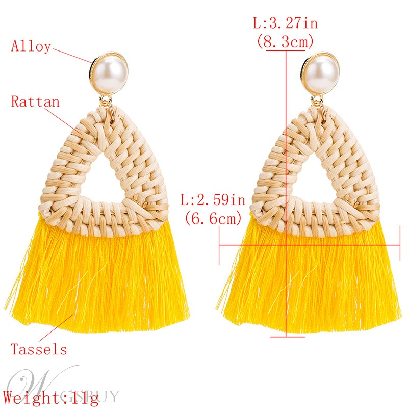 Adult Women/Ladies Handmade Technic Bohemian Style Drop Earrings For Prom/Anniversary/Wedding/Party/Birthday/Gift/Holiday