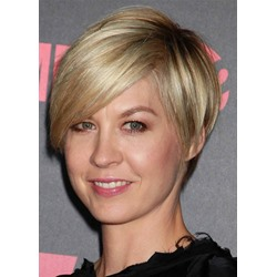 Womens Short Hairstyles for Fine Hair Pixie Cut Side Part Straight Synthetic Hair Capless Wigs 8Inch