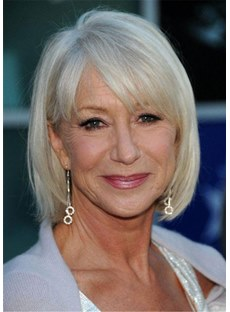 Medium Bob Synthetic Hair Hairstyles For Women Over 50