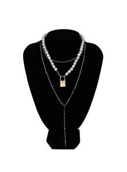 Adult Women/Ladies Romantic Style Alloy Material E-Plating Technic Pendant Necklace
