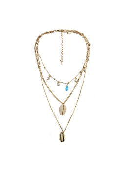 Sweet Style Women/Ladies Alloy Pendant Material E-Plating Technic Link Chain Type Pendant Necklace