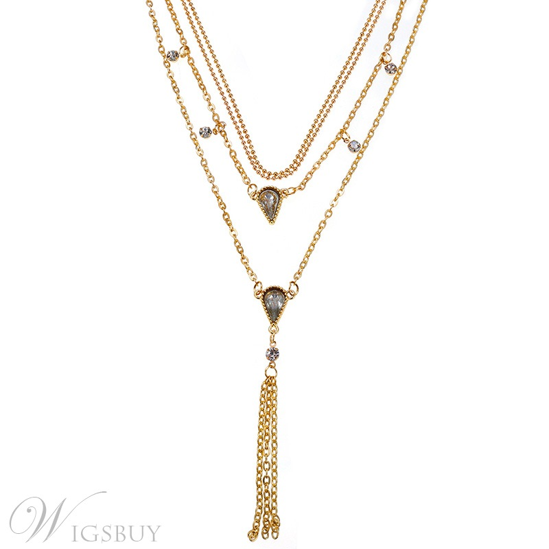 Women's Sweet Style Diamante Technic Alloy Material Pendant Necklace For Wedding/Party/Gifts