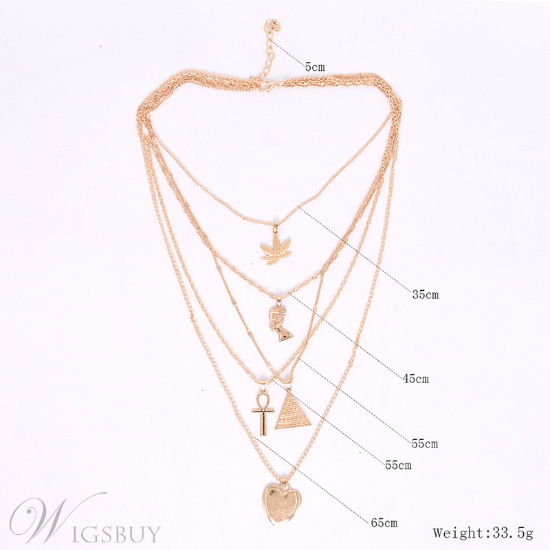 Women's Vintage Style E-plating Technic Alloy Pendant Nacklace For Gift/Wedding/Party