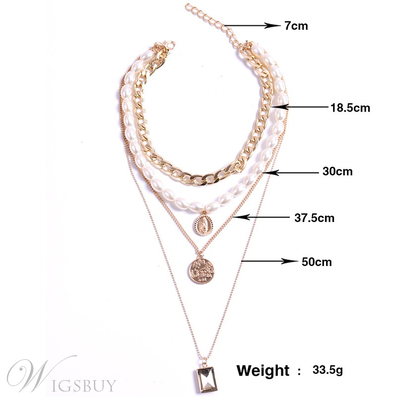 Adult Women's Vintage Style Alloy E-Plating Technic Pendant Necklace For Anniversary Party Holiday