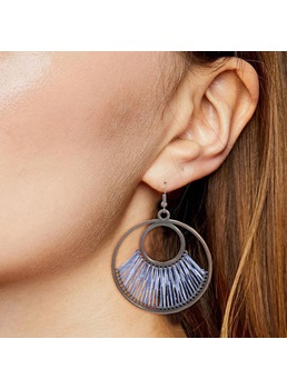 Vintage Style Women's Woven Technic Alloy Material Drop Earrings