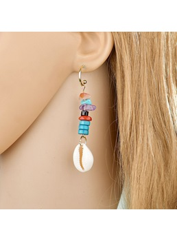 Audlt Women's Bohemian Style Alloy Material E-Plating Technic Drop Earrings