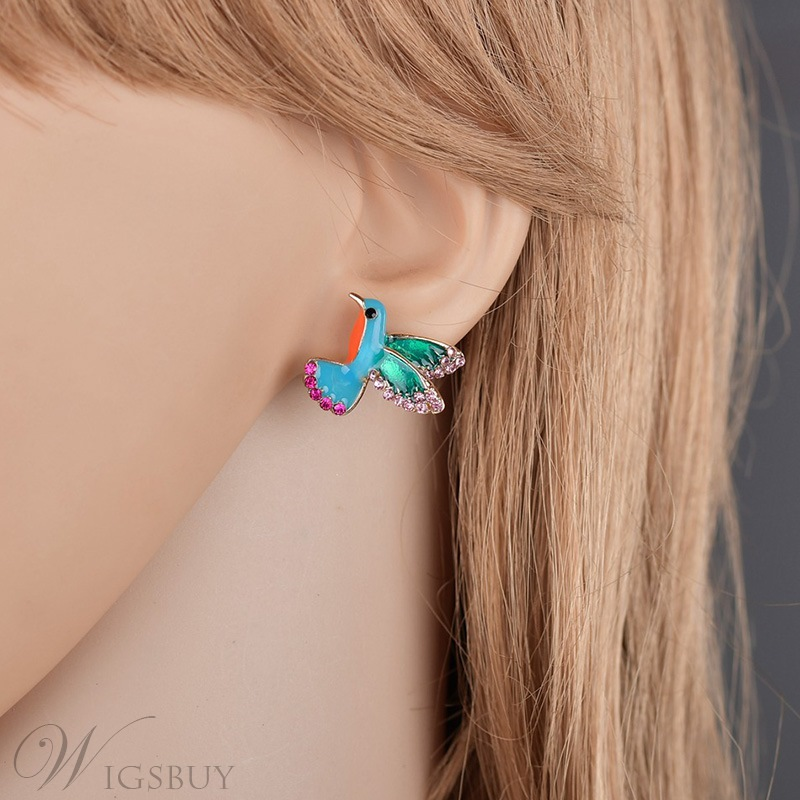 Women's Animal Pattern Sweet Style Audlt Diamante Technic Stud Earring