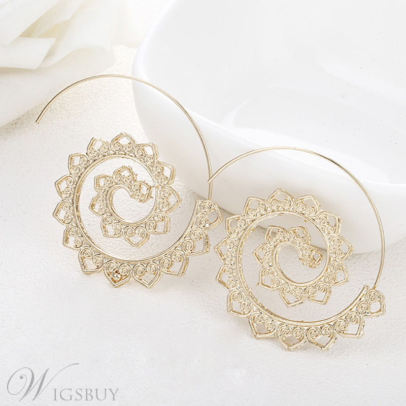 Women's Sweet Style Alloy Hollow Out Technic Stud Earrings Prom/Anniversary/Wedding/Party/Birthday/Gift/Holiday