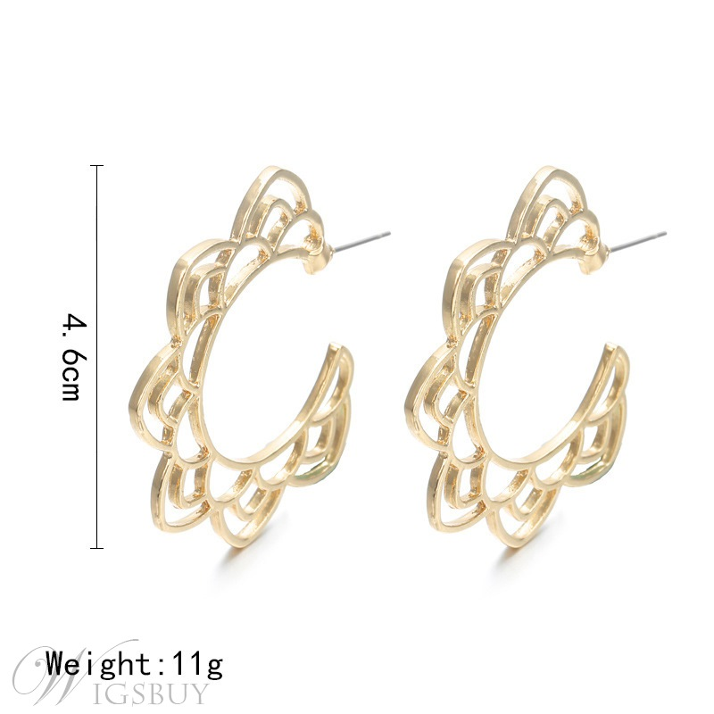 Women's Audlt Sweet Style Alloy Material Hollow Out Technic Stud Earring