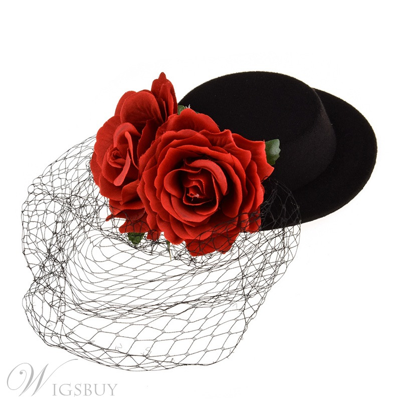 Vintage Style Adult Women/Ladies Cloth Material Handmade Technic Head Flower Hair Accessories