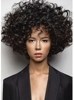Fashion Curly Hair Women's Big Curly Style Synthetic Hair Capless Wigs 12Inch