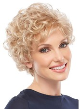 Classic Look Women's Ultra-lightweight 613 Blonde Short Curly Human Hair Lace Front Wigs 6Inch