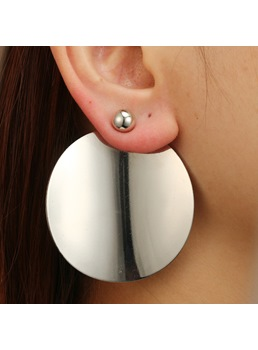 Korean Style Women Ladies Adult Alloy Material E-Plating Technic Stud Earrings