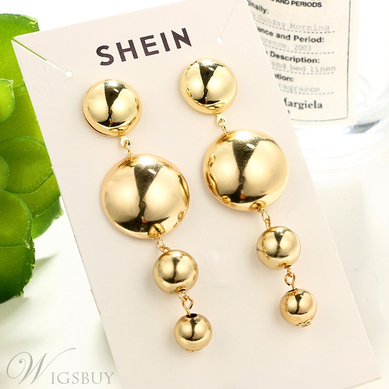 European Style Women/Ladies Audlt E-Plating Technic Alloy Material Drop Earrings