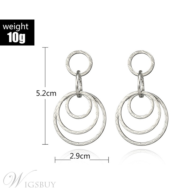 Lady Women's European Style Adult Alloy Material E-Plating Technic Drop Earrings For Wedding Party