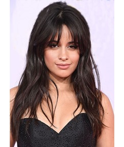 Medium Layered Hairstyle Women's Wavy Human Hair With Bangs Natural Looking Lace Front Wigs 20Inch