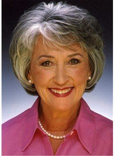 Short Wig With Bangs Layered Wavy Synthetic Hair Wig 12 Inches