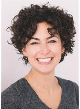 Short Hairstyles For Curly Human Hair Women Wig 10 Inches