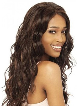 Long African American Wigs Loose Wave Synthetic Hair Women Wig 24 Inches