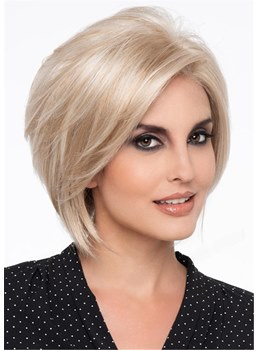 Short Layered Hairstyle Light Blonde Natural Straight Synthetic Hair Wig 14 Inches