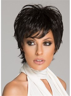 Short Wavy Synthetic Hair Women Wig 8 Inches