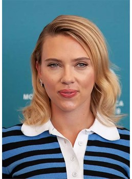 Scarlett Johansson Hairstyles Synthetic Wavy Hair Wig 16 inches