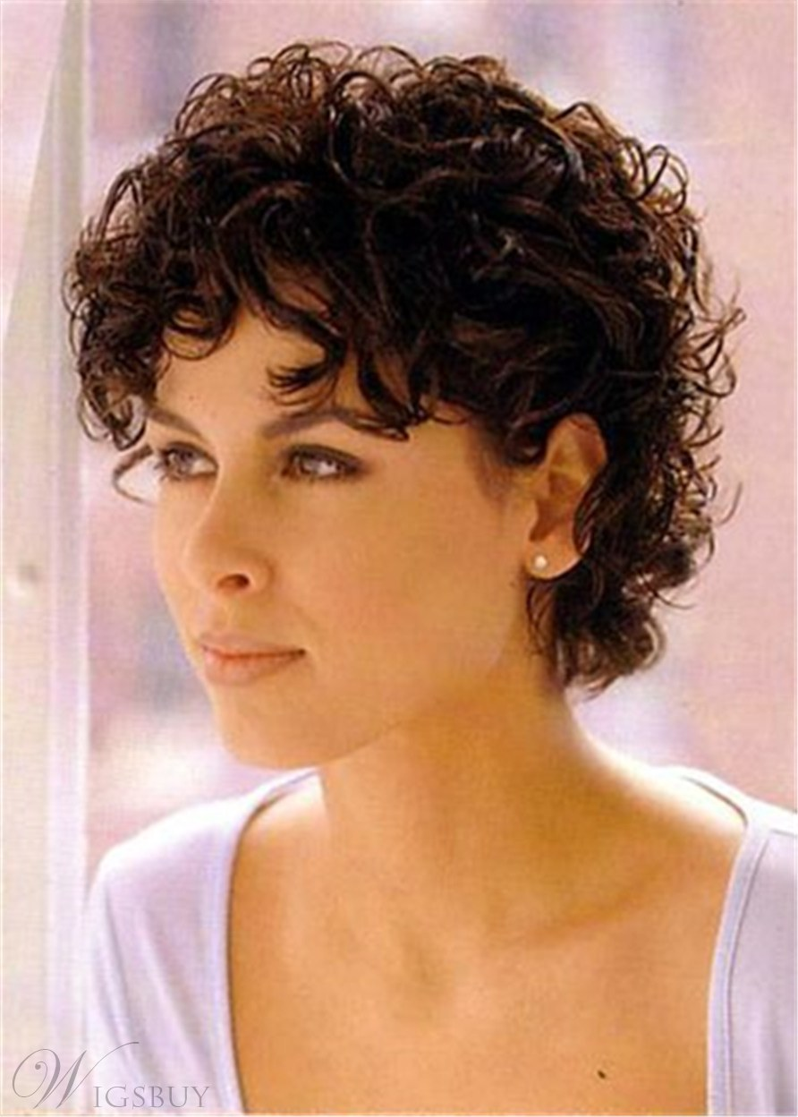 Women's Short Curly Synthetic Hair Women Wig 10 Inches