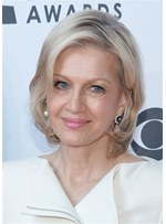 Short Bob Hairstyles Human Hair Wigs For Older Women 14 Inches