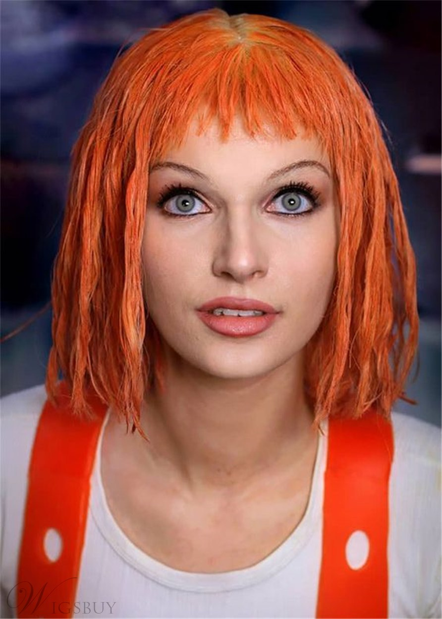 Leeloo Hairstyle Synthetic Hair Curly Cosplay Wig 14 Inches