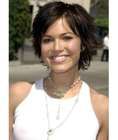 Women's Short Shaggy Layered Hairstyle Wavy Synthetic Hair Capless Wigs 8Inch