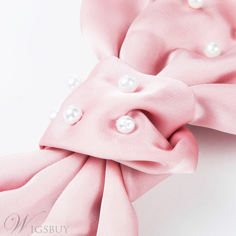Adult Women's Sweet Style Cloth Material Pearl Inlaid Technic Barrette For Wedding Paryty