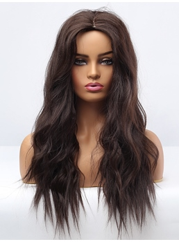 Dark Brown Big Curly Synthetic Hair Women Wigs 26 Inches