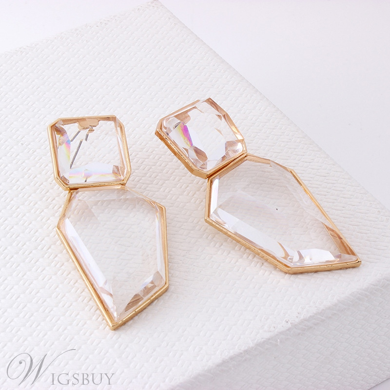 Women/Ladies European Style Alloy Material E-Plating Technic Drop Earrings