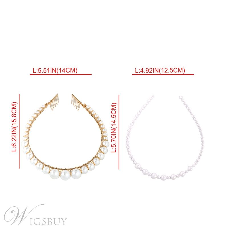 Sweet Style Women/Laadies Alloy Material Pearl Inlaid Technic Hairband