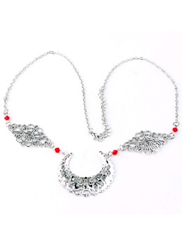 Vintage Style Women/Ladies Hollow Out Technic Alloy Material Head Chain