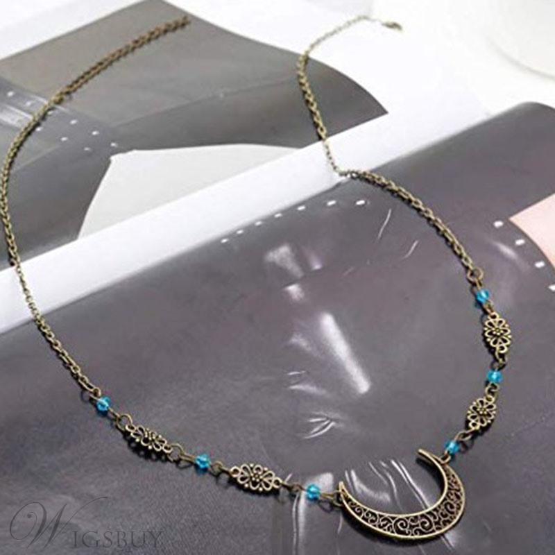 Women/Ladies Vintage Style Alloy Material E-Plating Technic Head Chain